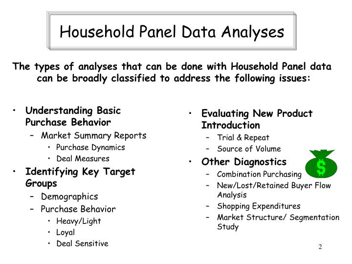 Household Panel Data Analyses