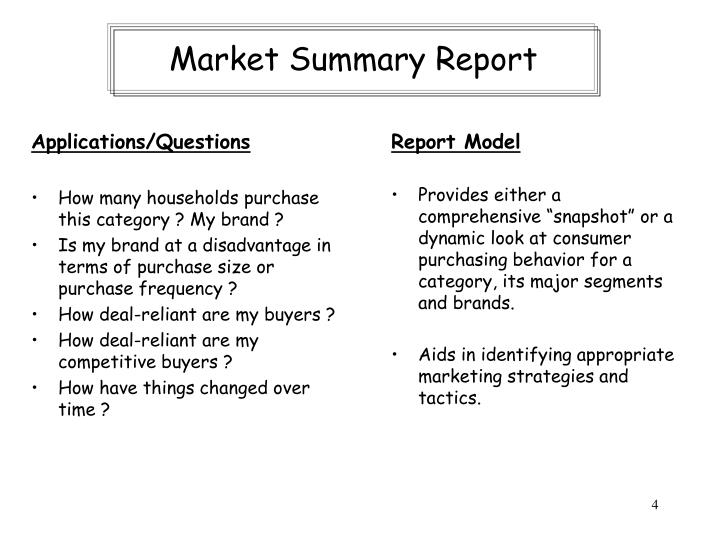 Market Summary Report