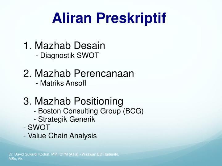 Aliran Preskriptif