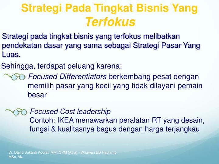 Strategi Pada Tingkat Bisnis Yang