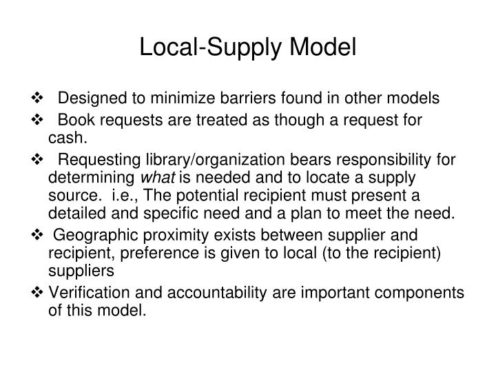 Local-Supply Model