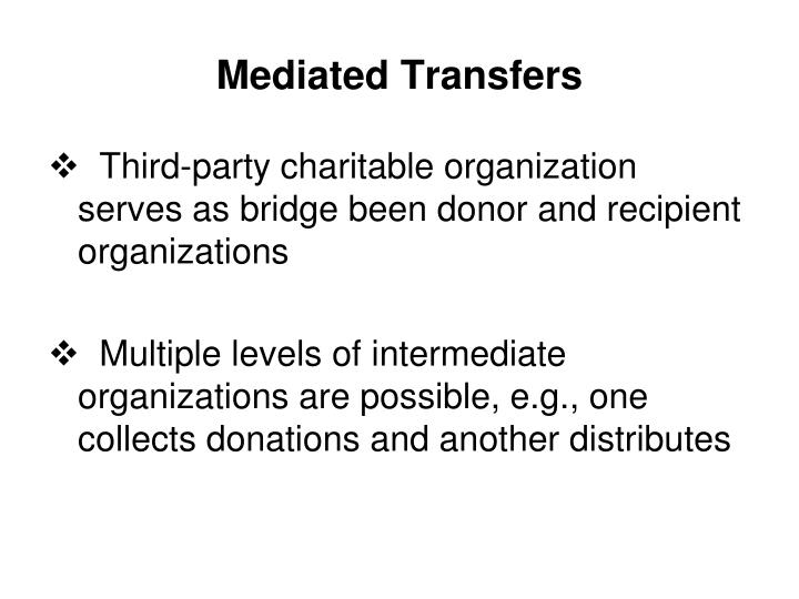 Mediated Transfers