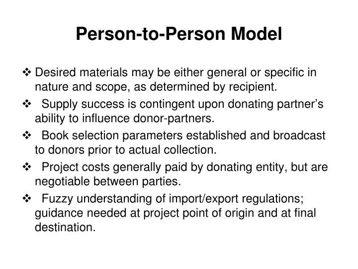 Person-to-Person Model