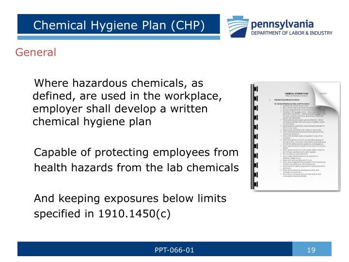Chemical Hygiene Plan (CHP)