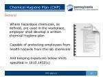 chemical hygiene plan chp