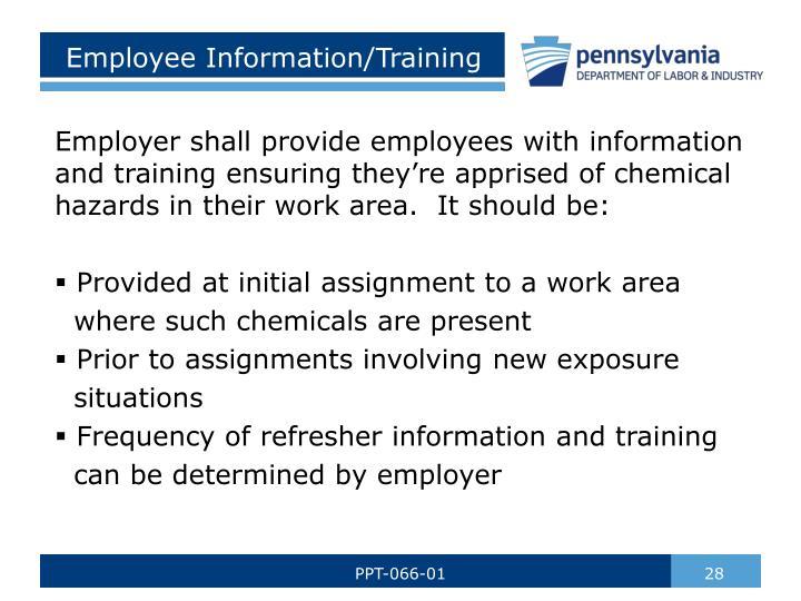 Employee Information/Training