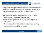 employee information training