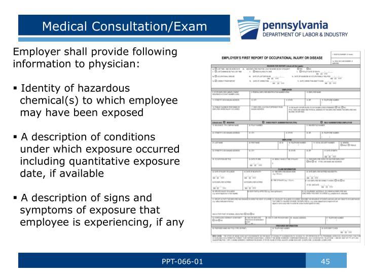 Medical Consultation/Exam