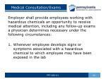 medical consultation exams