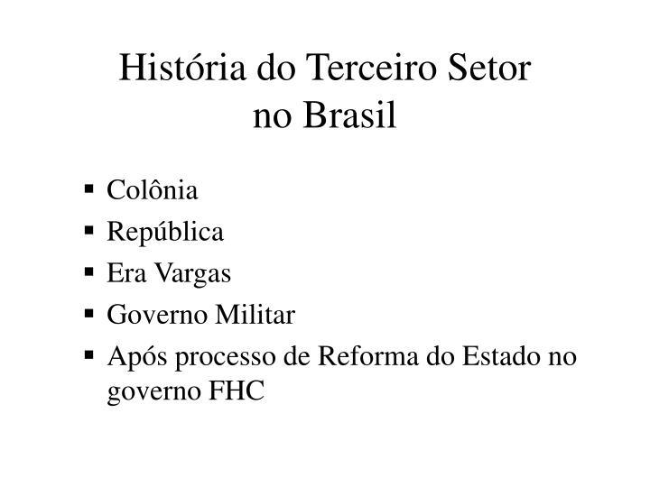 História do Terceiro Setor