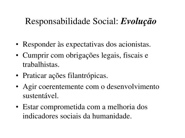 Responsabilidade Social: