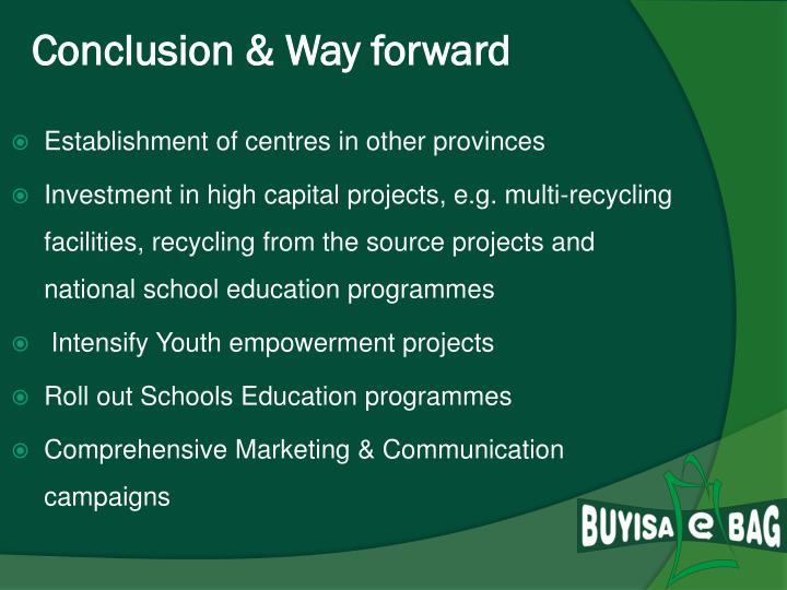 Conclusion & Way forward