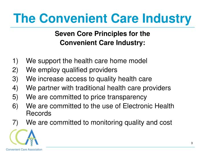 The Convenient Care Industry