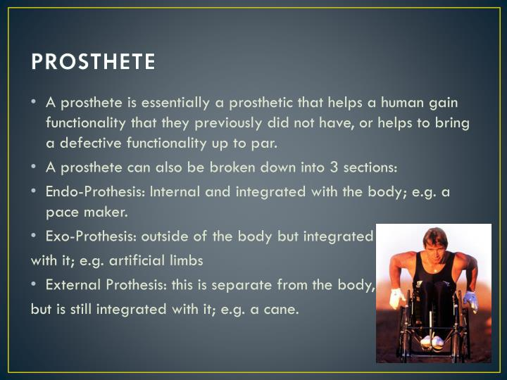 PROSTHETE