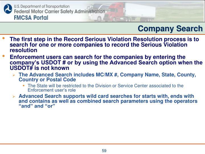Company Search