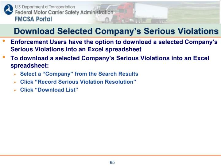 Download Selected Company's Serious Violations