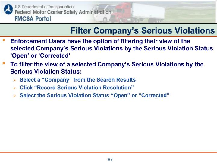 Filter Company's Serious Violations