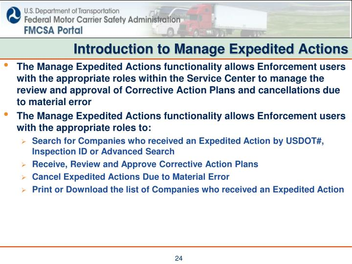Introduction to Manage Expedited Actions