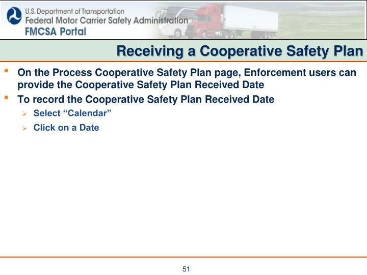 Receiving a Cooperative Safety Plan