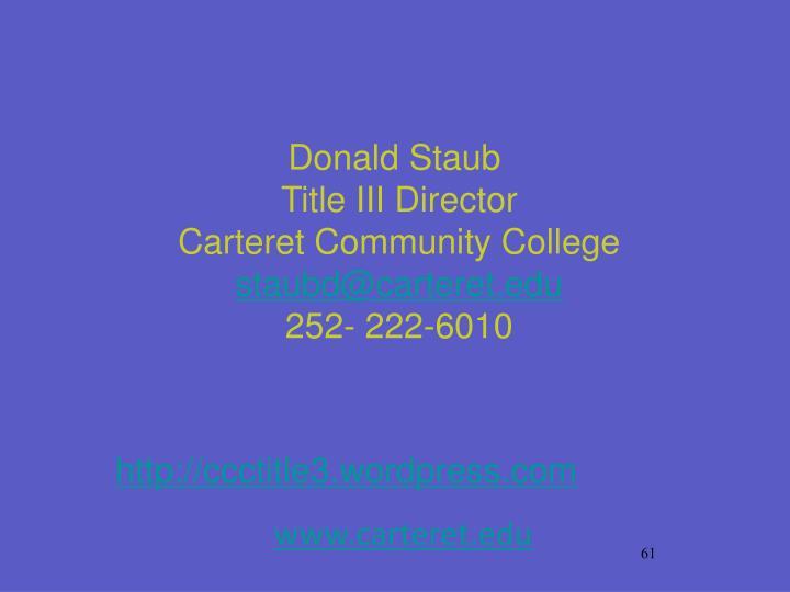 Donald Staub