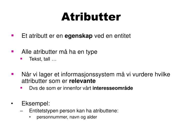 Atributter
