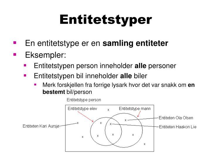 Entitetstyper