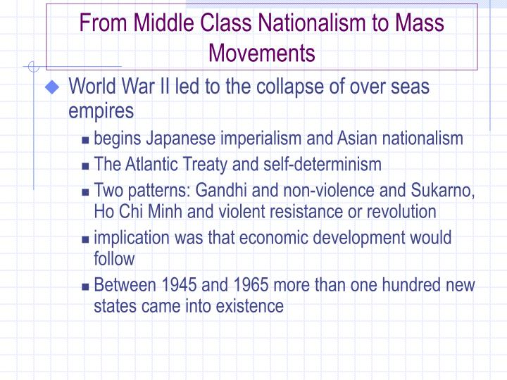 From Middle Class Nationalism to Mass Movements