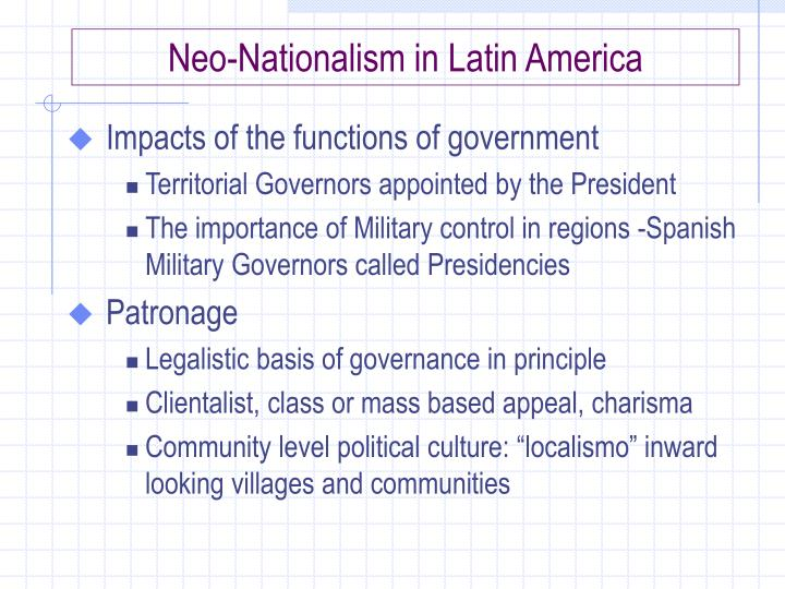 Neo-Nationalism in Latin America