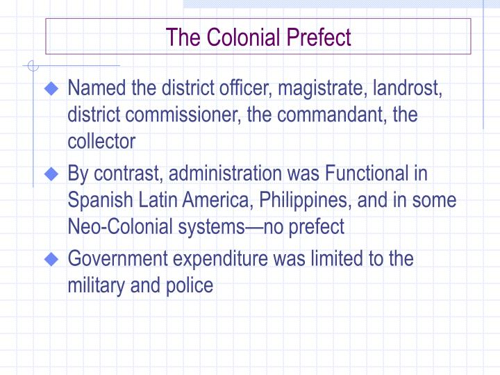 The Colonial Prefect