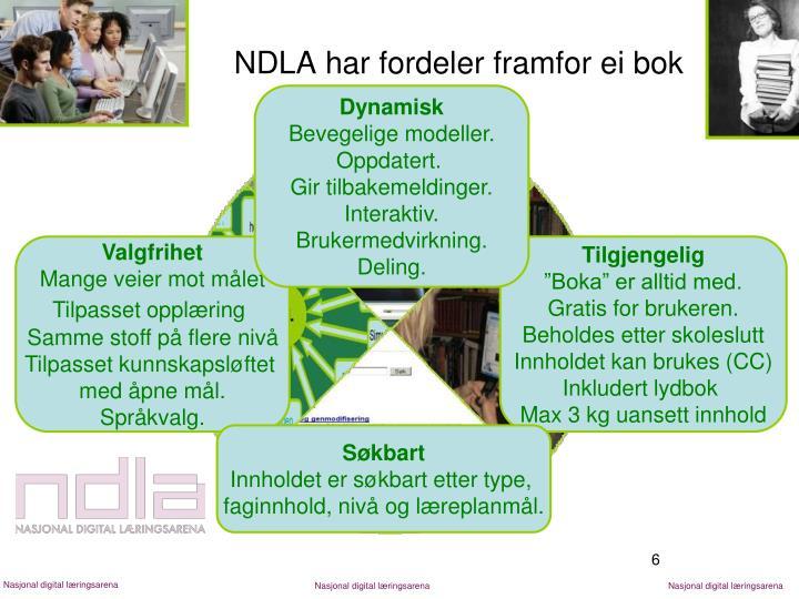 NDLA har fordeler framfor ei bok