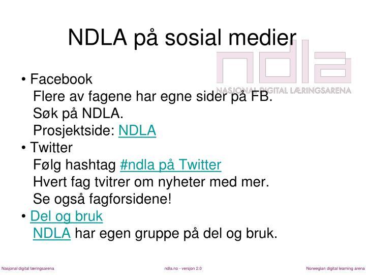 NDLA på sosial medier
