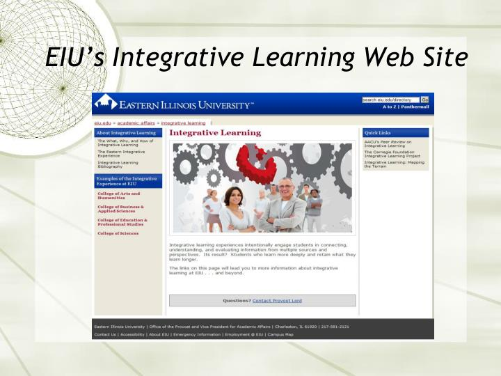 EIU's Integrative Learning Web Site