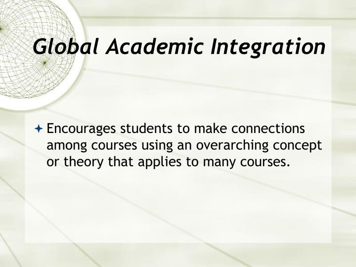 Global Academic Integration