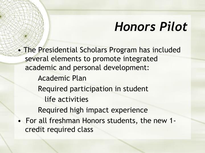 Honors Pilot