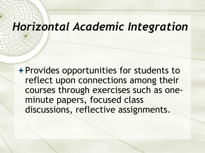 Horizontal Academic Integration