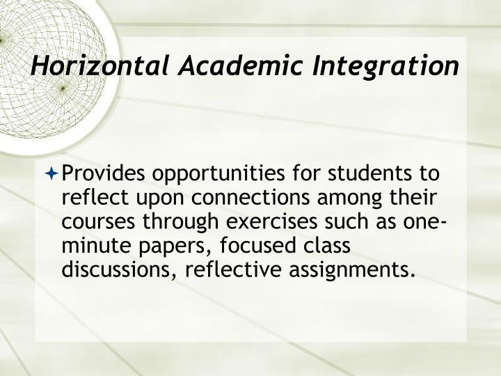 Horizontal Academic Integration