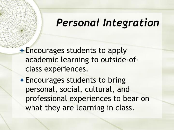 Personal Integration