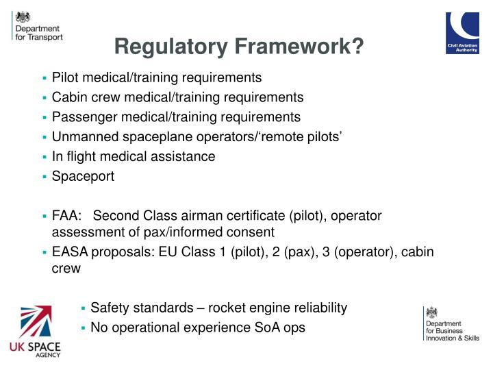 Regulatory Framework?