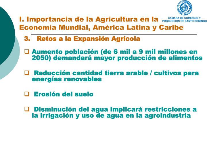 I. Importancia de la Agricultura en la