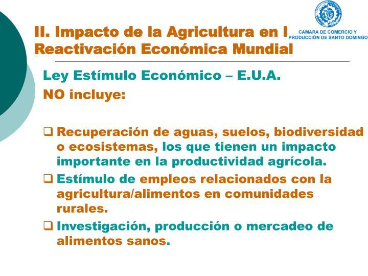 II. Impacto de la Agricultura en la Reactivación Económica Mundial