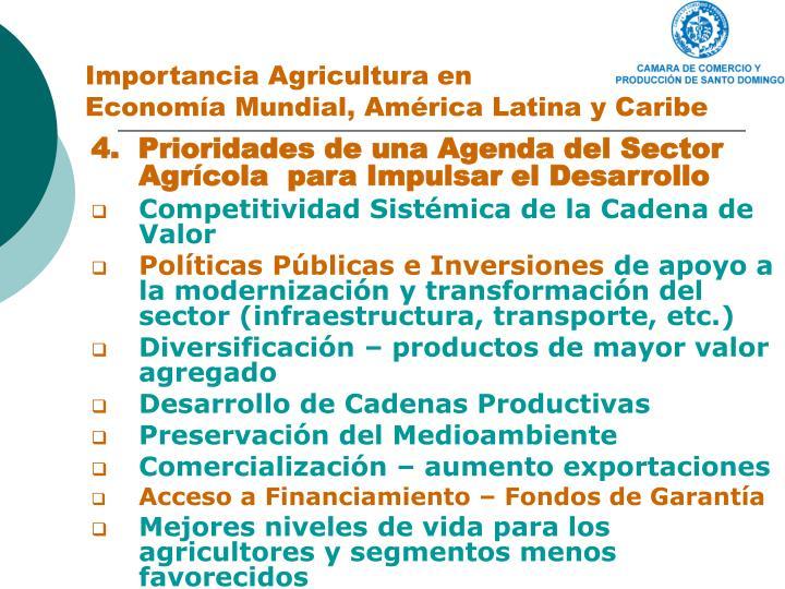 Importancia Agricultura en