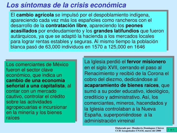 Los síntomas de la crisis económica