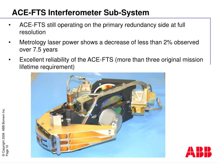 ACE-FTS Interferometer Sub-System