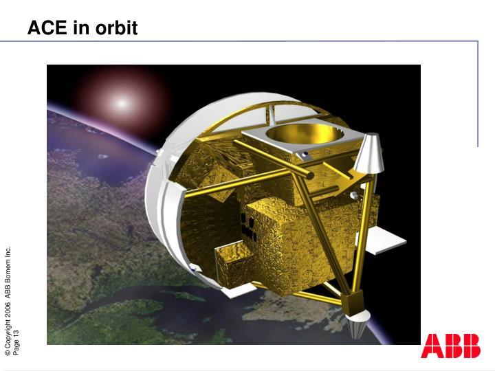 ACE in orbit