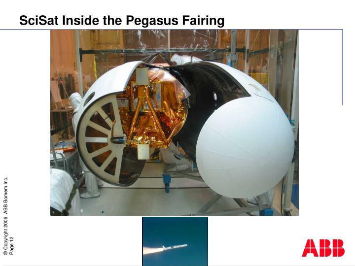 SciSat Inside the Pegasus Fairing