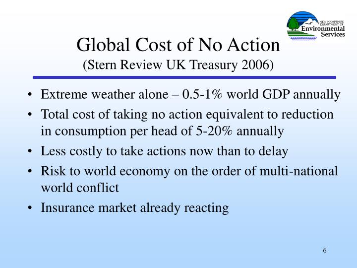 Extreme weather alone – 0.5-1% world GDP annually