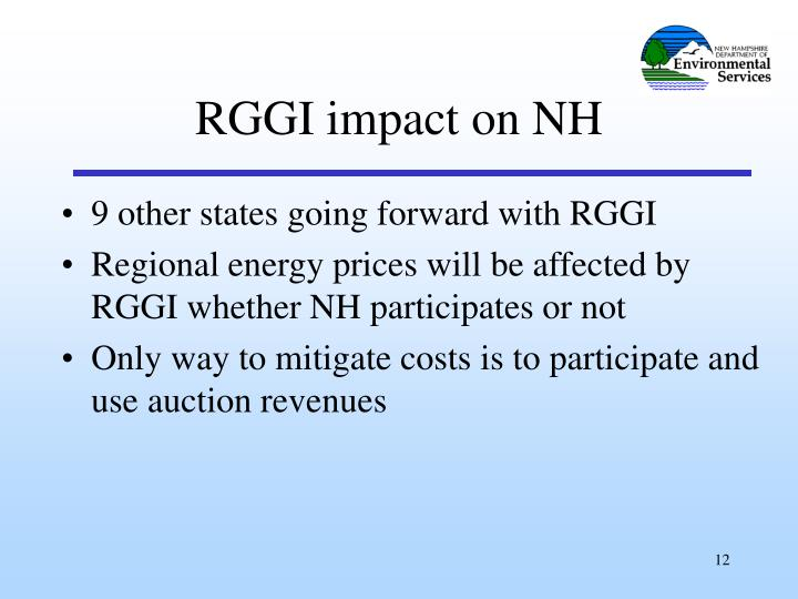 9 other states going forward with RGGI