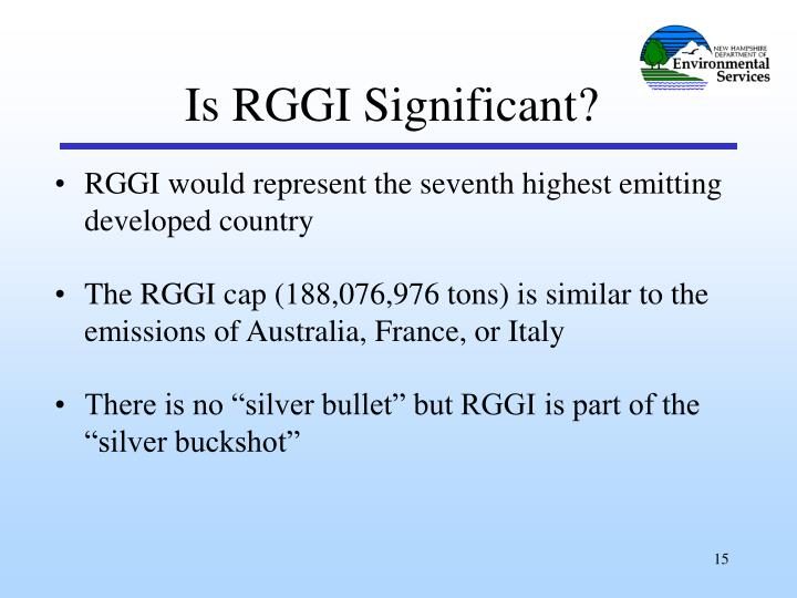 Is RGGI Significant?