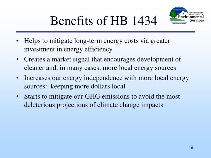 Benefits of HB 1434