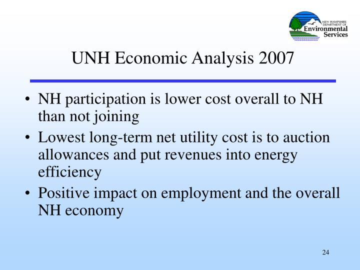 NH participation is lower cost overall to NH than not joining